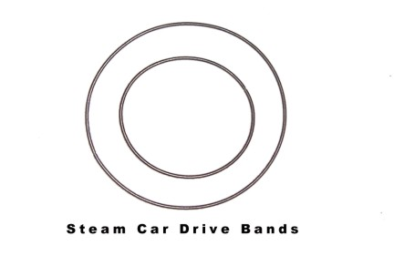 Mamod Steam Car Drive Bands Later Style
